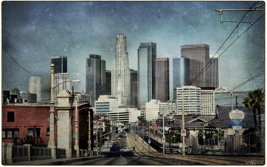 Free Download Downtown Los Angeles As Seen From 1st Street