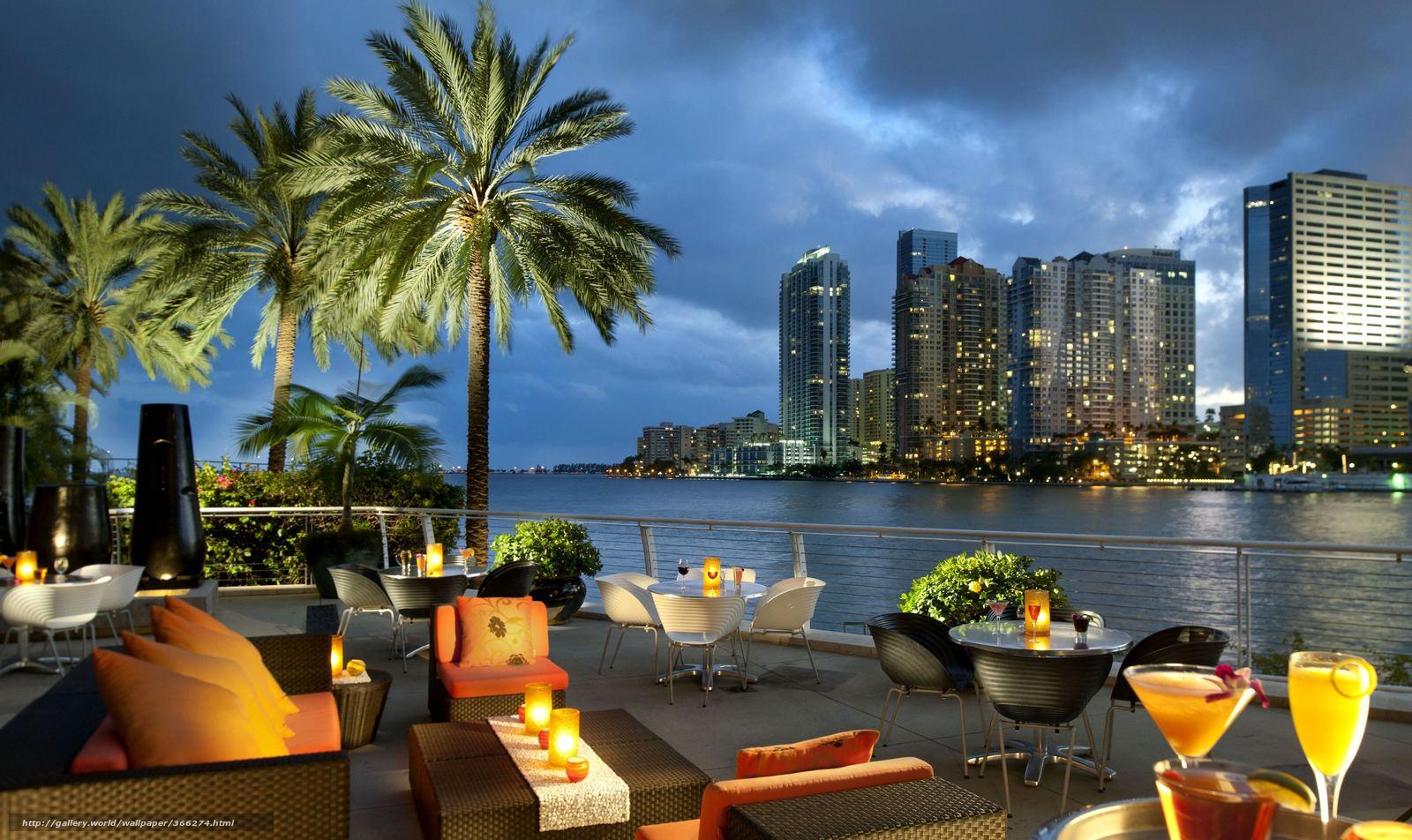 Download wallpaper Miami Florida USA city desktop wallpaper in 1600x952