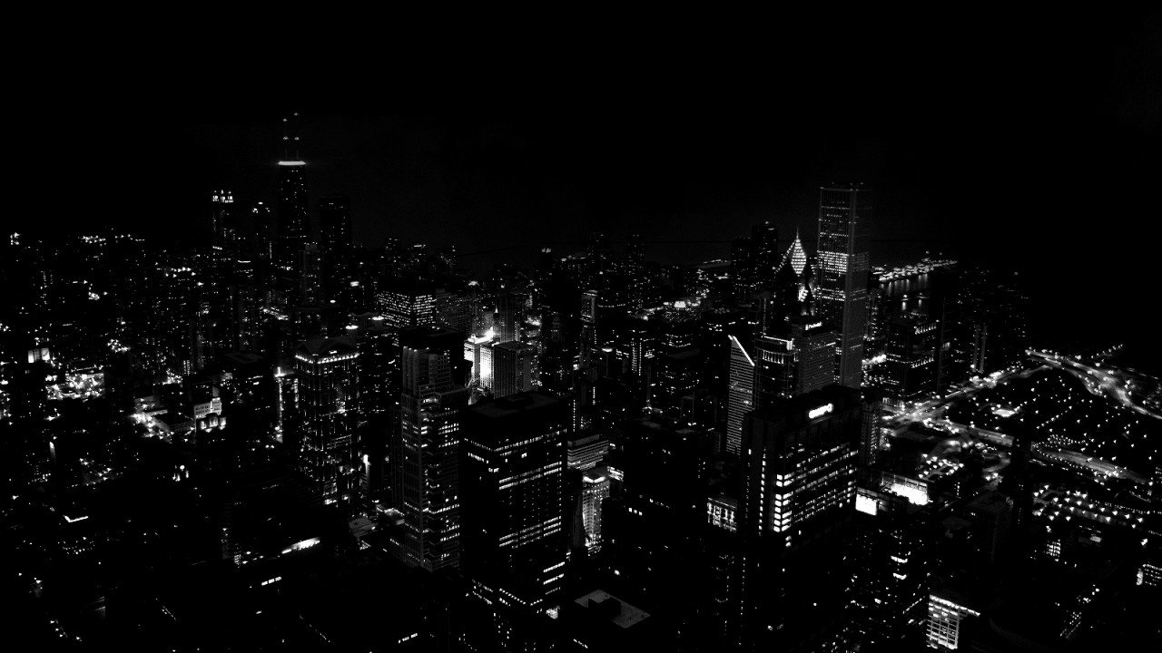 city lights black and white - photo #13