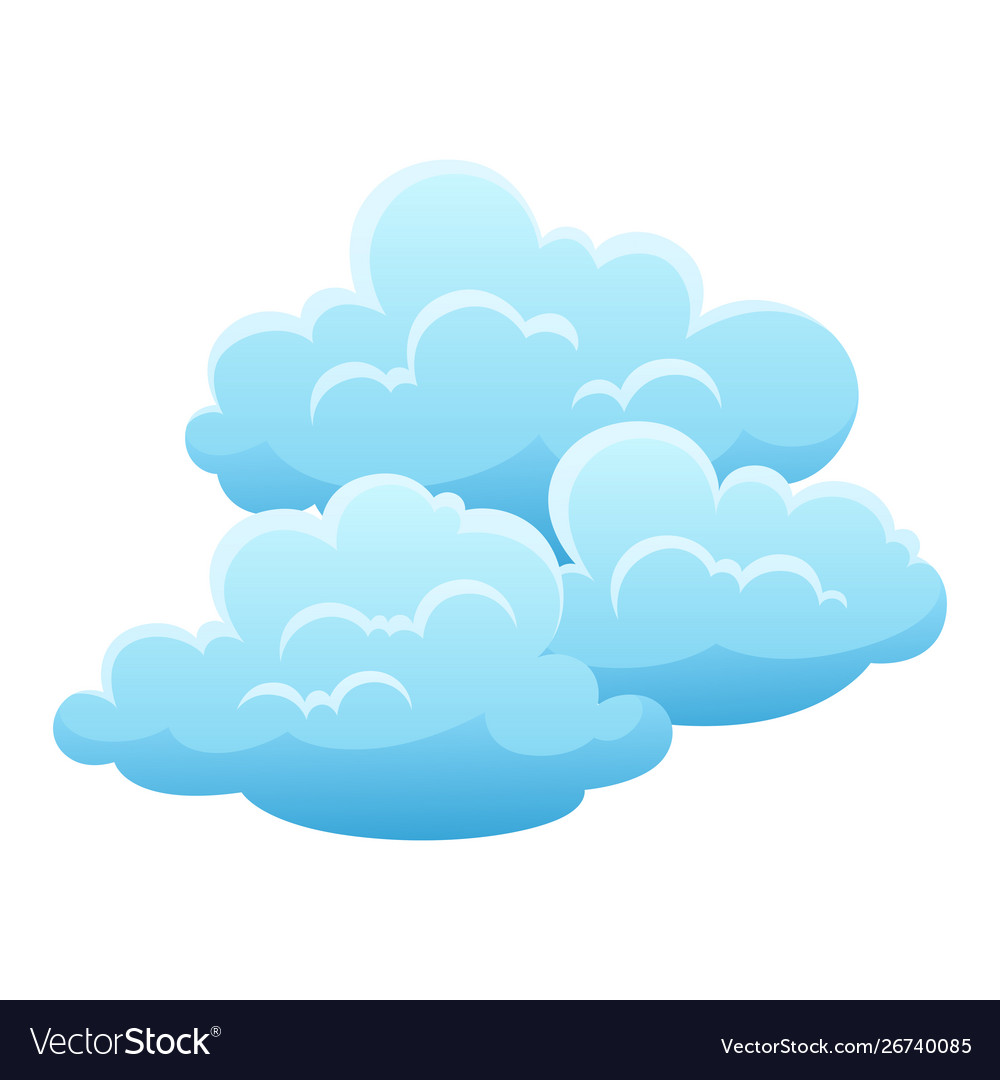 Blue clouds on white background Royalty Vector Image 1000x1080