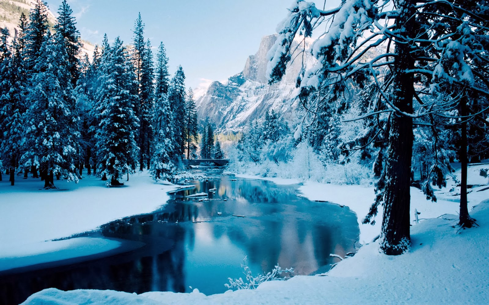 Desktop Backgrounds 4U Winter Scenes 1600x1000