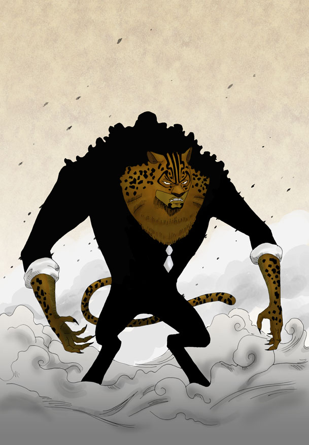 Rob Lucci Leopard by luffie 609x877