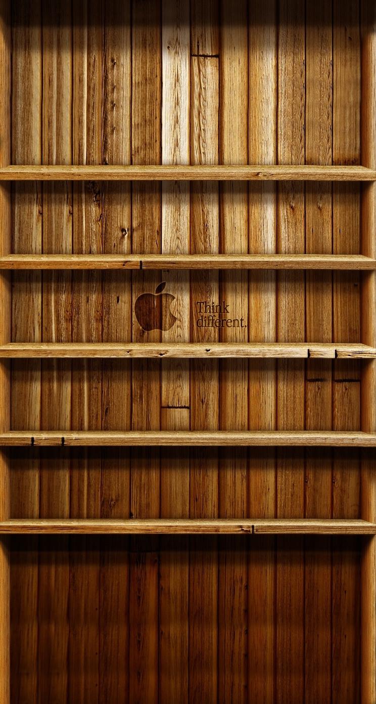 Ipad Bookshelf Wallpaper Page 744x1392