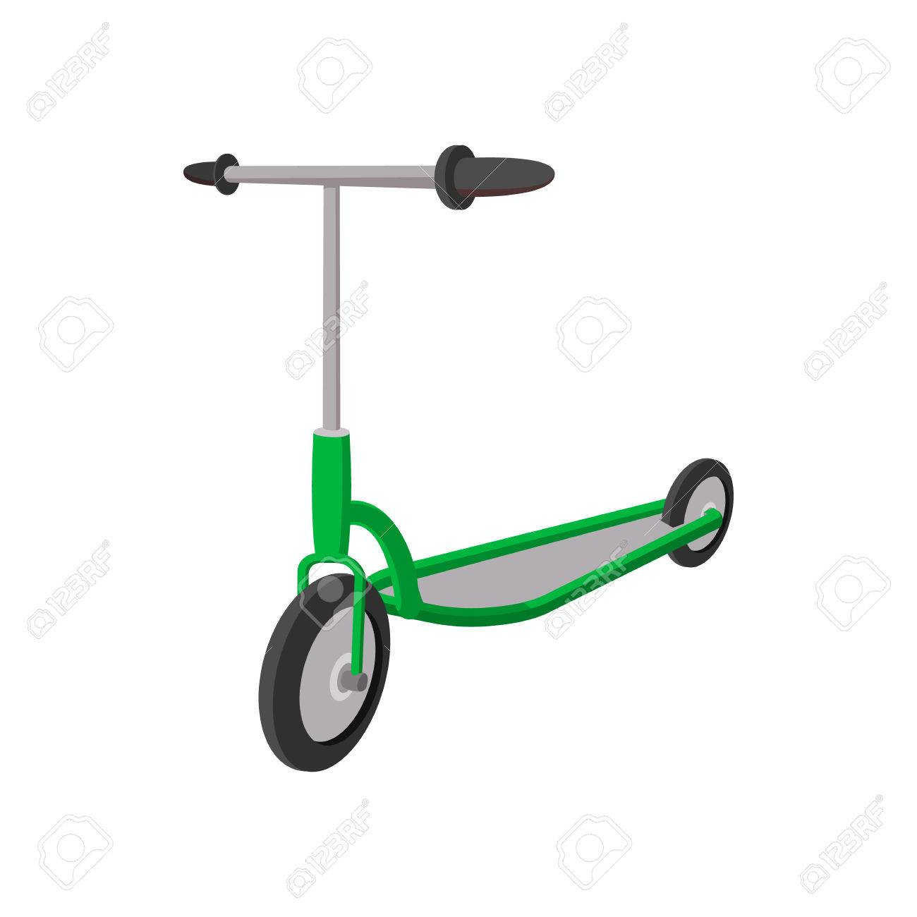 Kick Scooter Cartoon Icon On A White Background Royalty 1300x1300