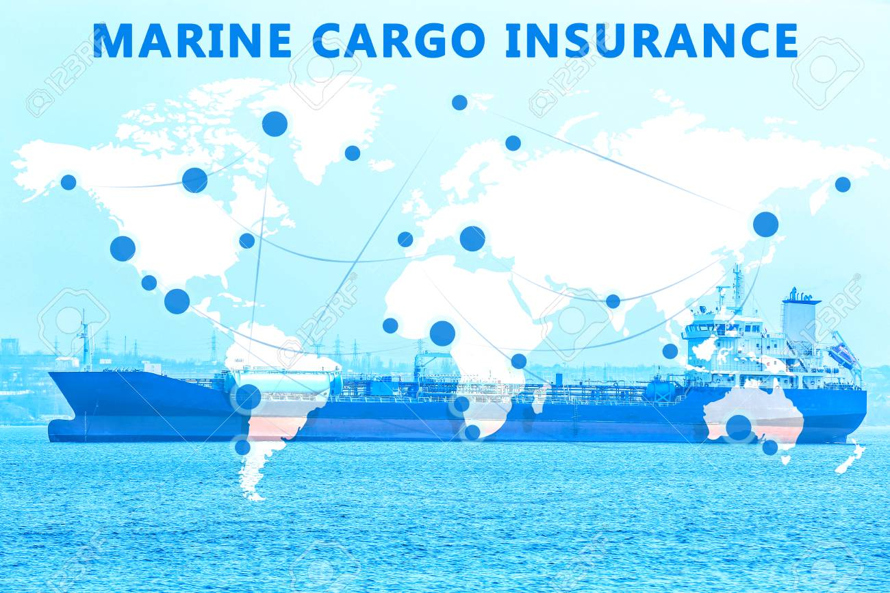 World Map And Ship On Background Concept Of Marine Cargo 1300x866