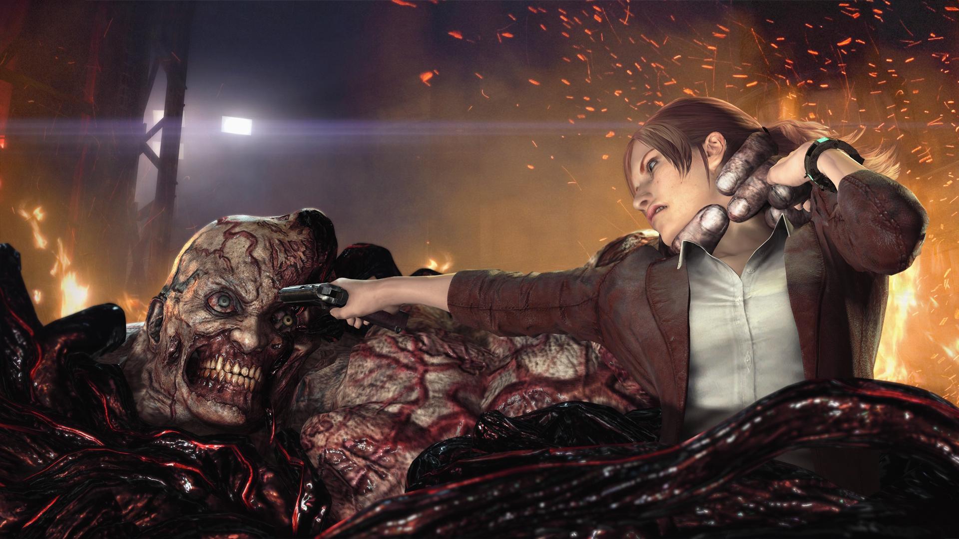 Claire kontra Nemesis Wallpaper from Resident Evil Revelations 2 1920x1080