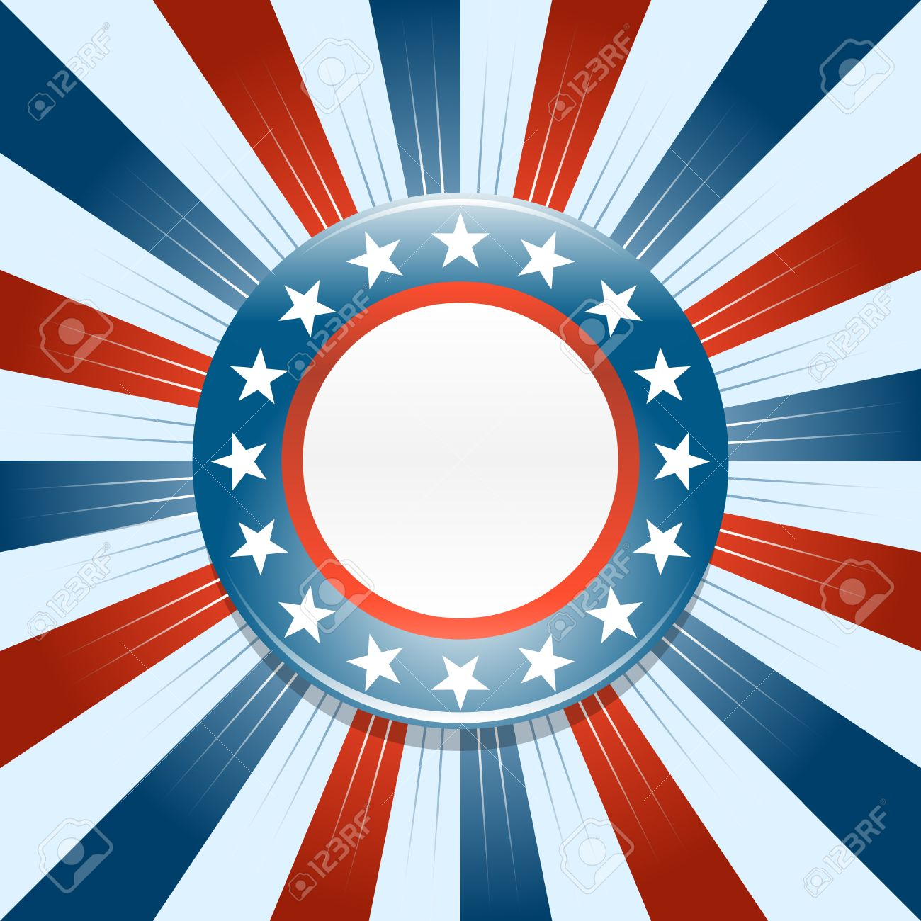 Election Campaign Button On Red White And Blue Background Royalty 1300x1300