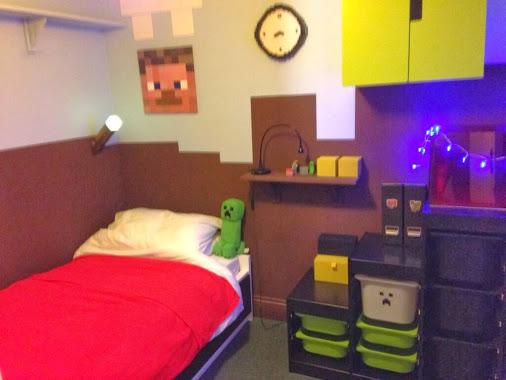Minecraft Themed Bedroom Wallpaper Minecraft Themed Bedroom a 506x380