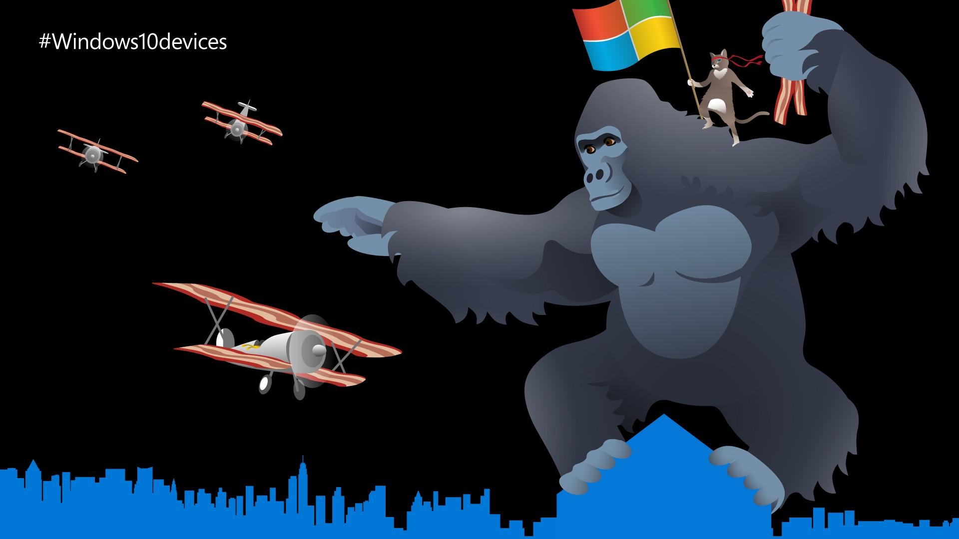 Microsoft Hides Ninja Cat Wallpaper in Windows 10 Devices Event 1920x1080