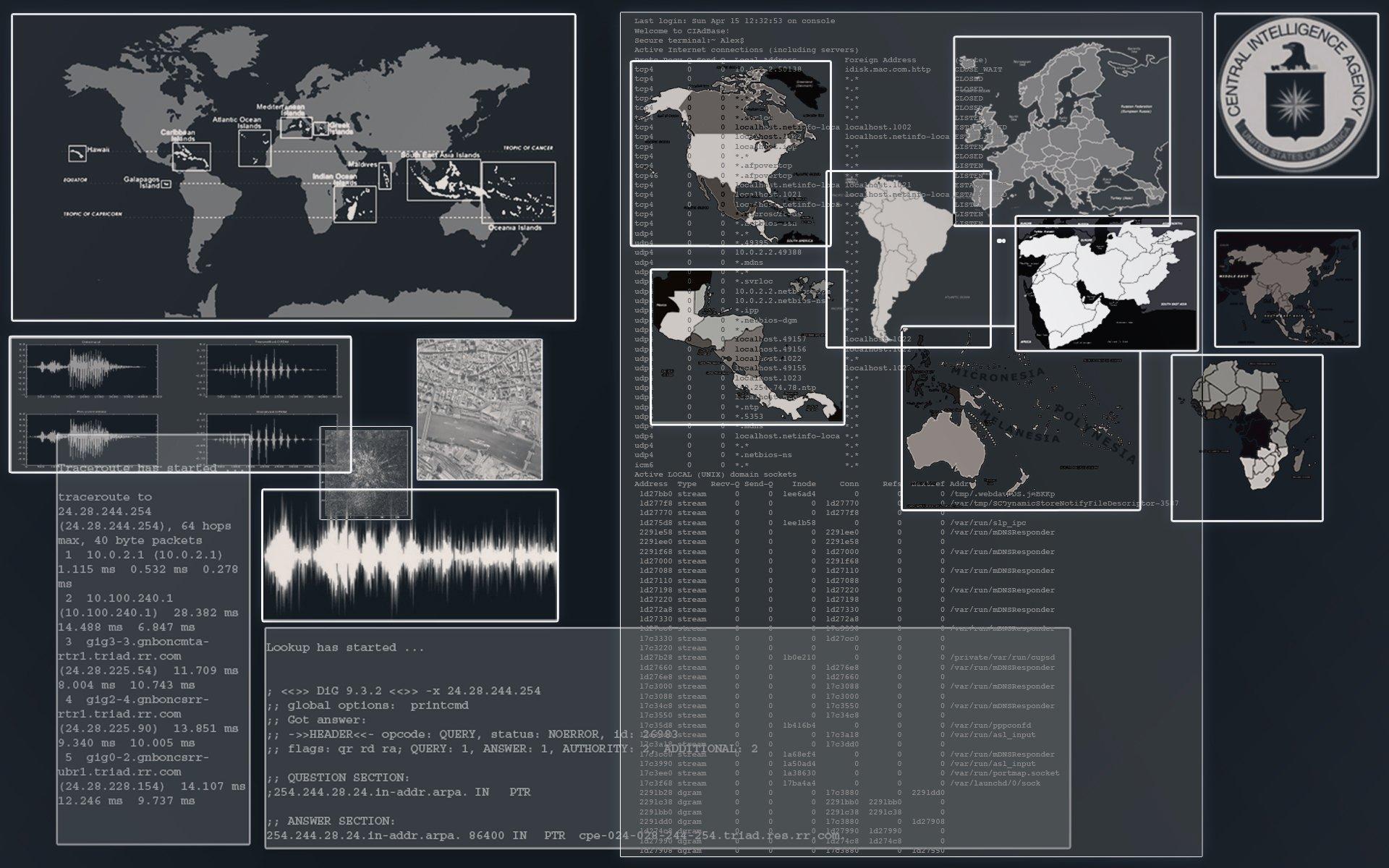 CIA Central Intelligence Agency crime usa america spy logo wallpaper 1920x1200