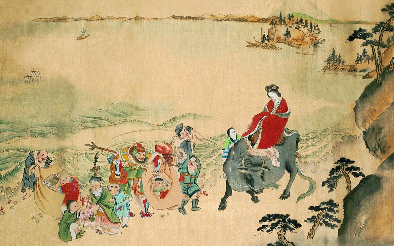 Japan painted ladies desktop wallpaper 11 Paintings Wallpapers 1280x800