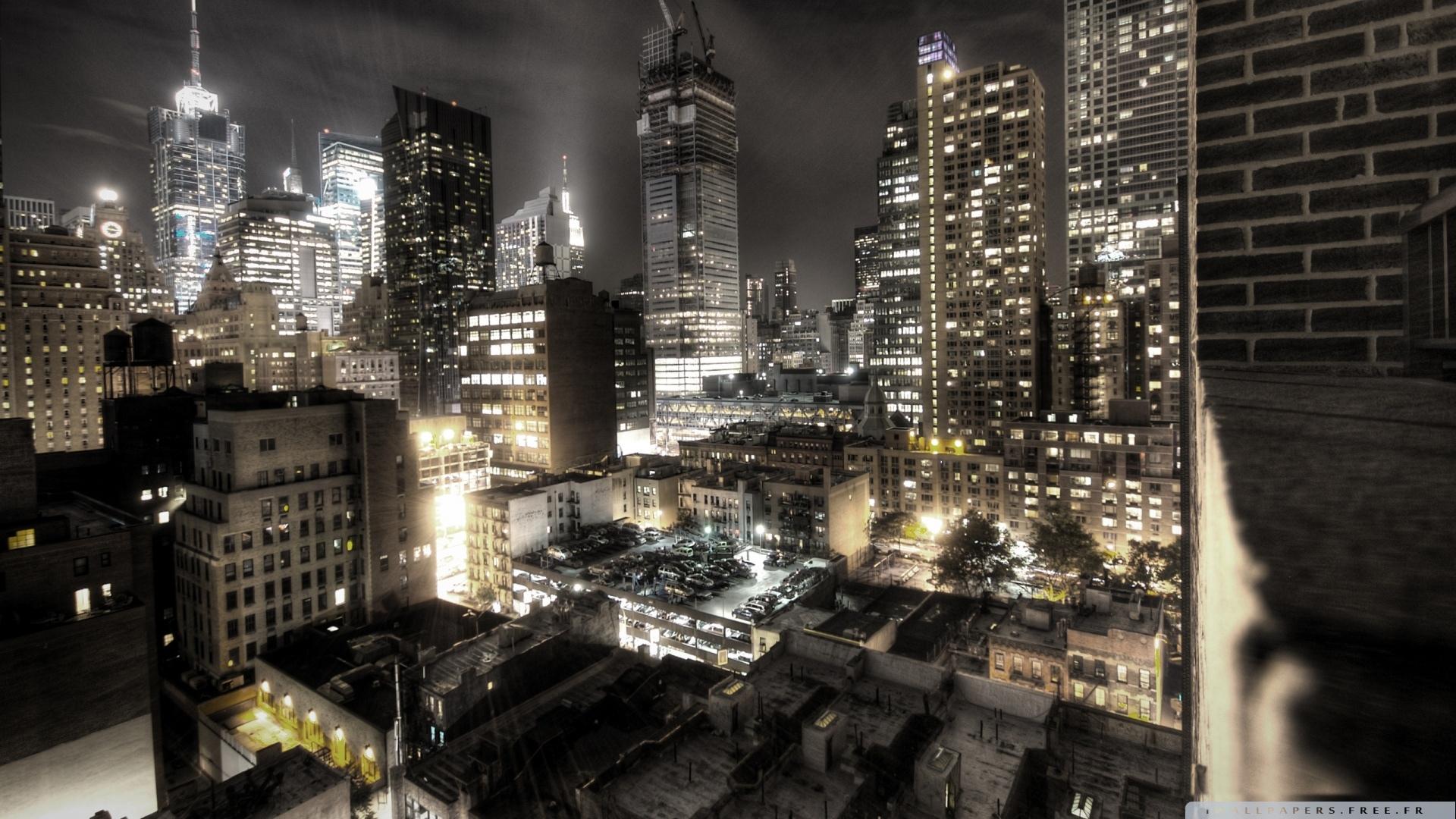 new york city at night lights wallpaper 1920x1080   new york city at 1920x1080