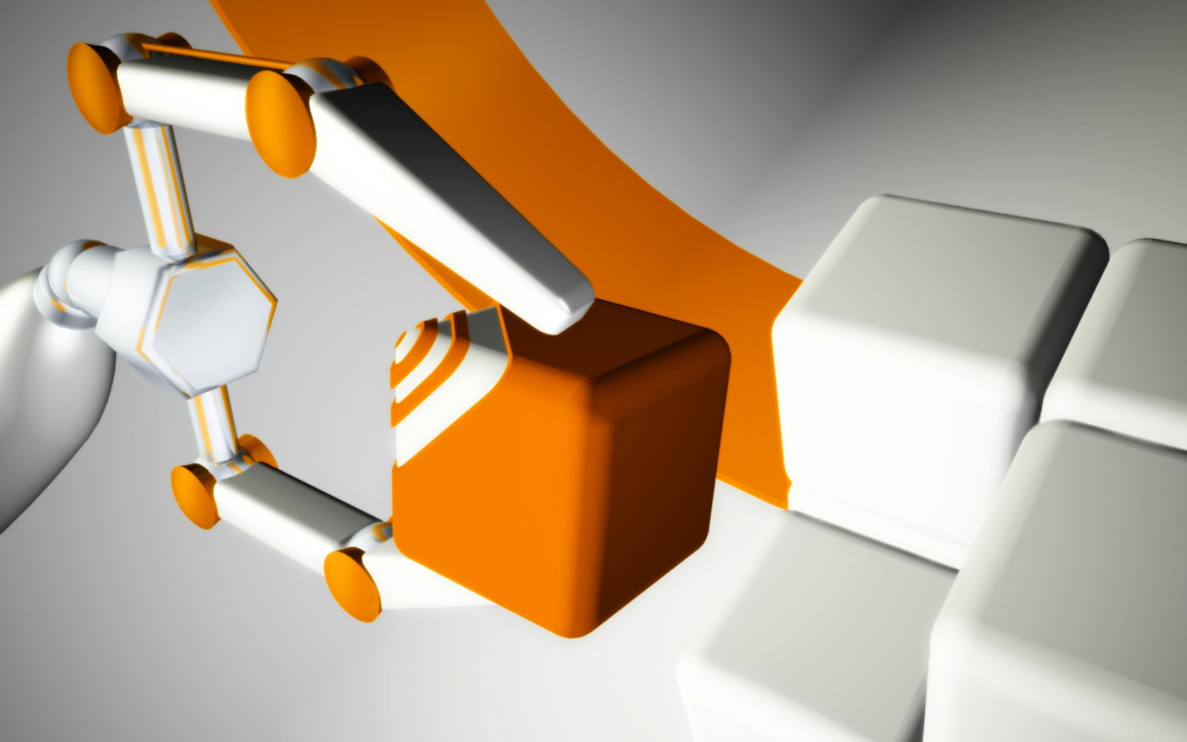 Sorting Orange and White Cubes wallpaper   ForWallpapercom 1680x1050