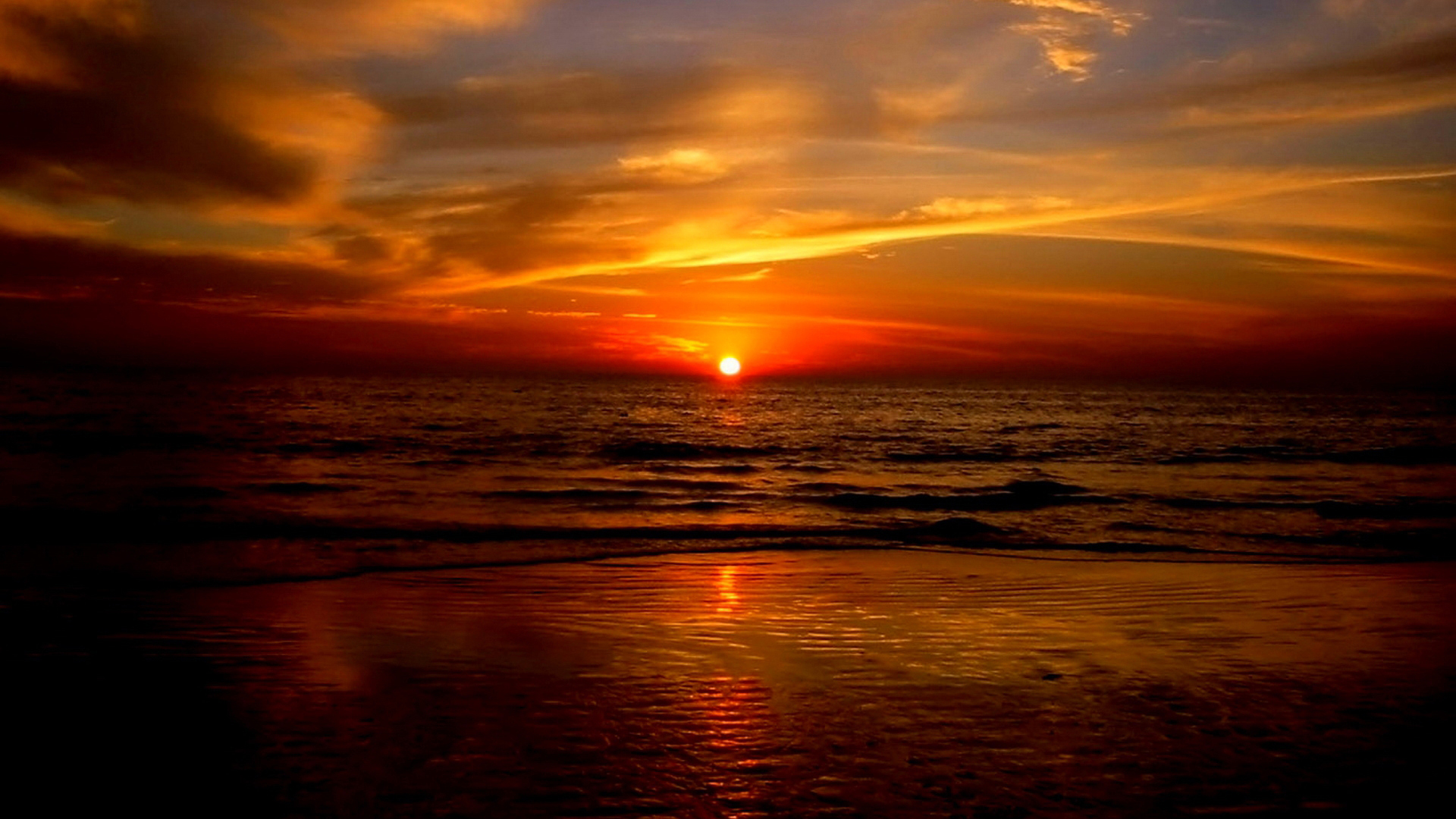 Beautiful Ocean Sunset Wallpaper for PC Full HD Pictures 1920x1080