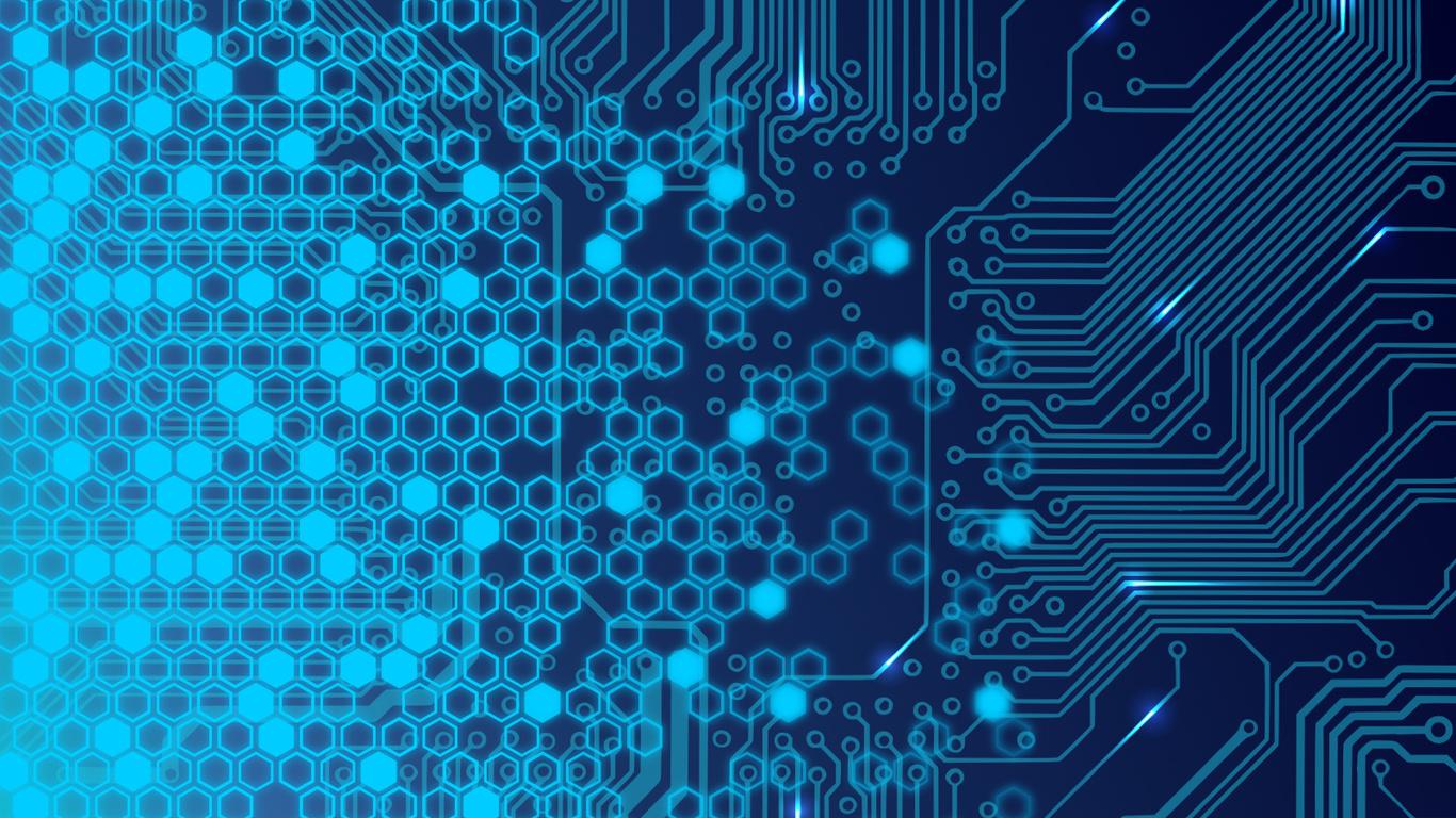 Fondos de pantalla plan de alta tecnologa electrnica Neon un 1366x768