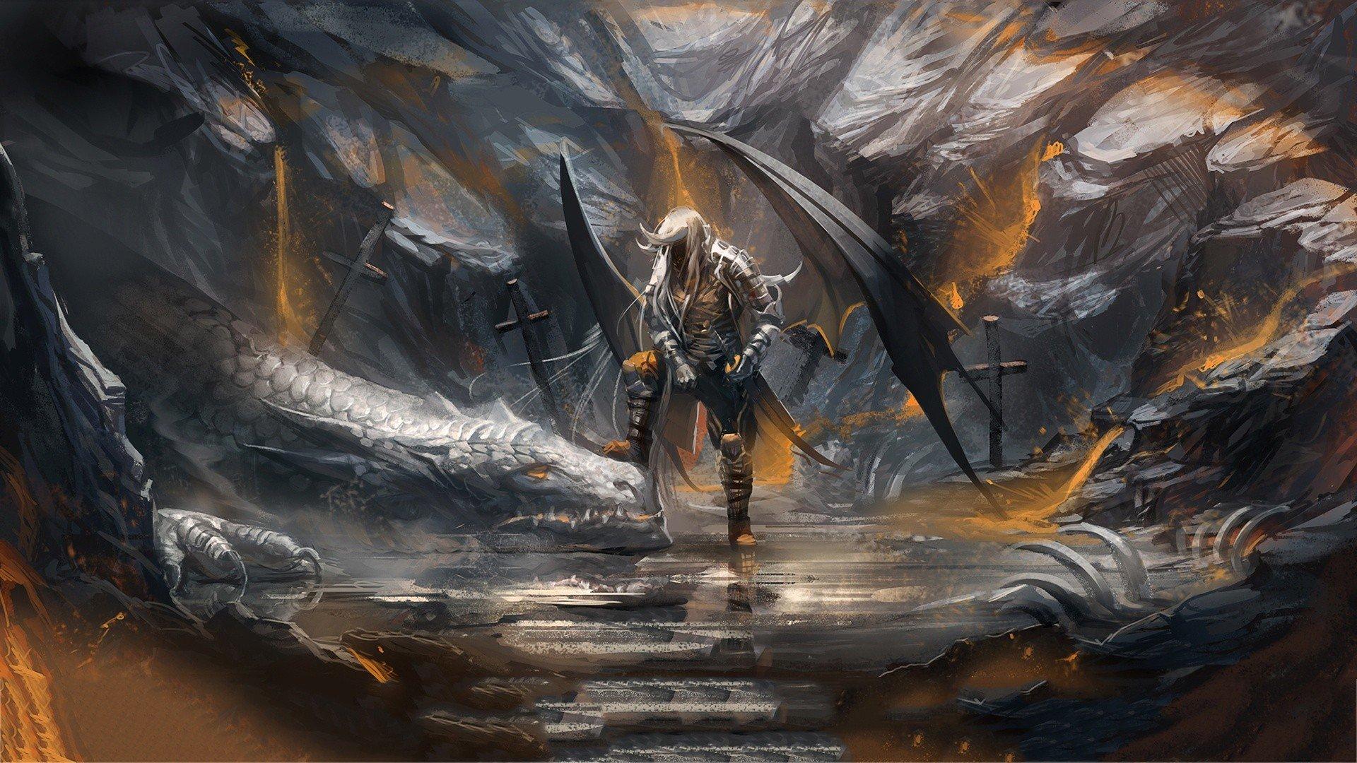 artwork drow dark elves wallpaper 1920x1080 310069 WallpaperUP 1920x1080