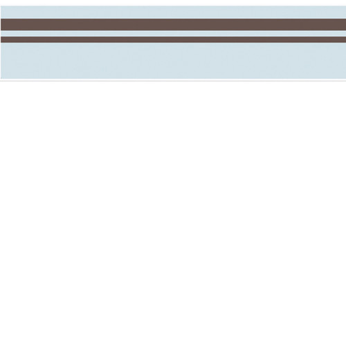Final Sale Hotel Blue and Brown Modern Wall Paper Border by Sweet Jojo 500x524