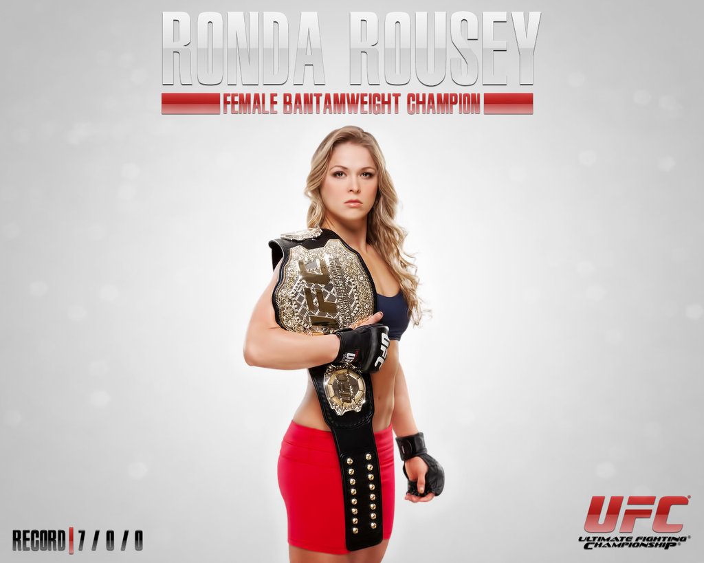 Ronda Rousey UFC Wallpaper by ExaArt 1024x819
