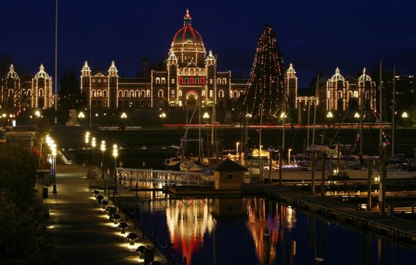 Wallpaper canada victoria city christmas new yera city wallpapers 596x380