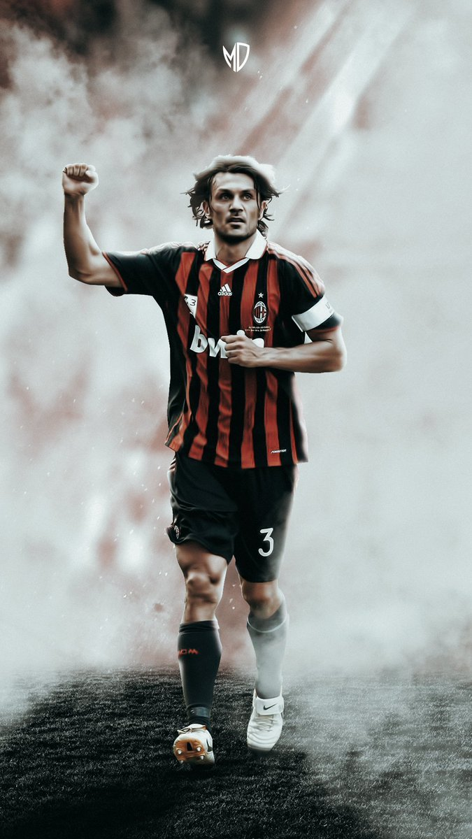 Milandigital on Twitter Capitano Paolo Maldini Mobile Wallpaper 675x1200