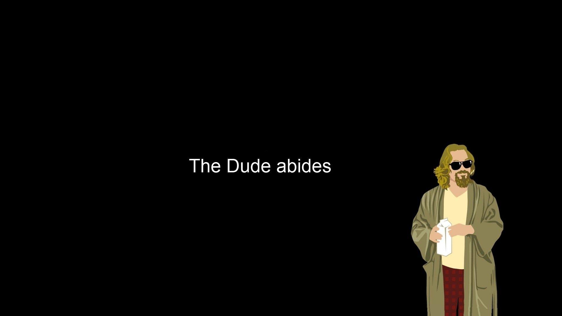 Minimalistic The Dude The Big Lebowski wallpaper 1920x1080