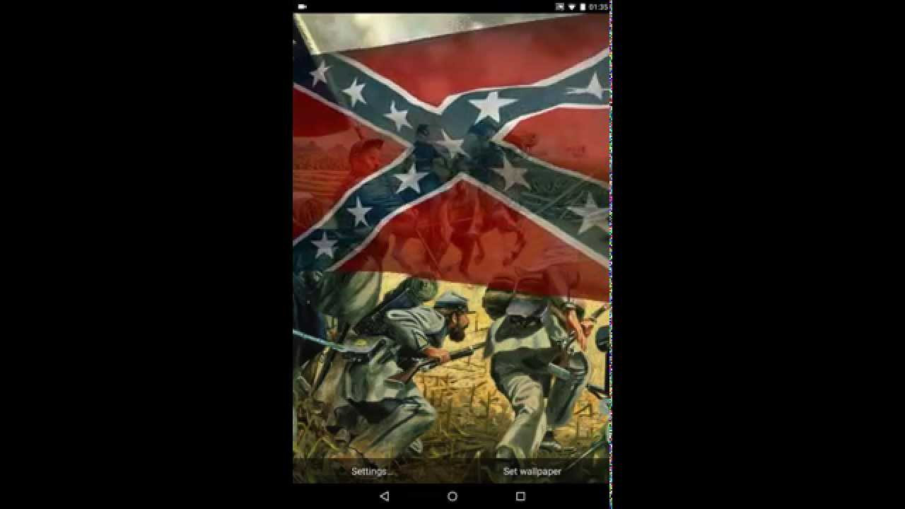 Rebel Flag Live Wallpaper 1280x720