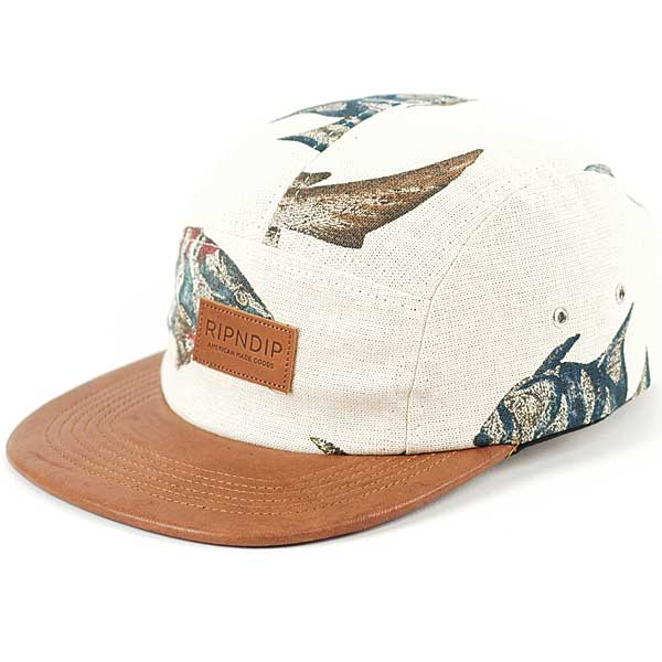 Rip N Dip Marina Camp Cap Cream Leather   Forty Two Skateboard Shop 600x600