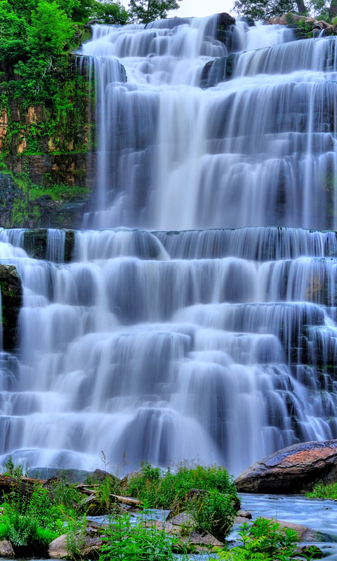 Waterfall HD Live Wallpapers Live wallpapers HD for Android 480x800