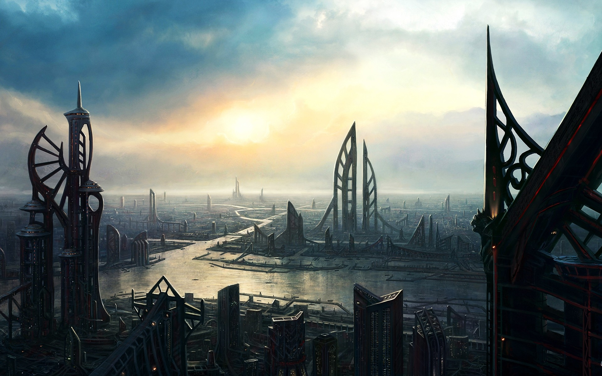 35 Hd Future Cityscape Wallpaper On Wallpapersafari