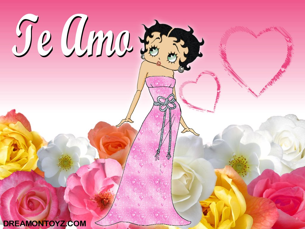 Archive Betty Boop Spanish Valentine backgrounds and wallpapers 1024x768
