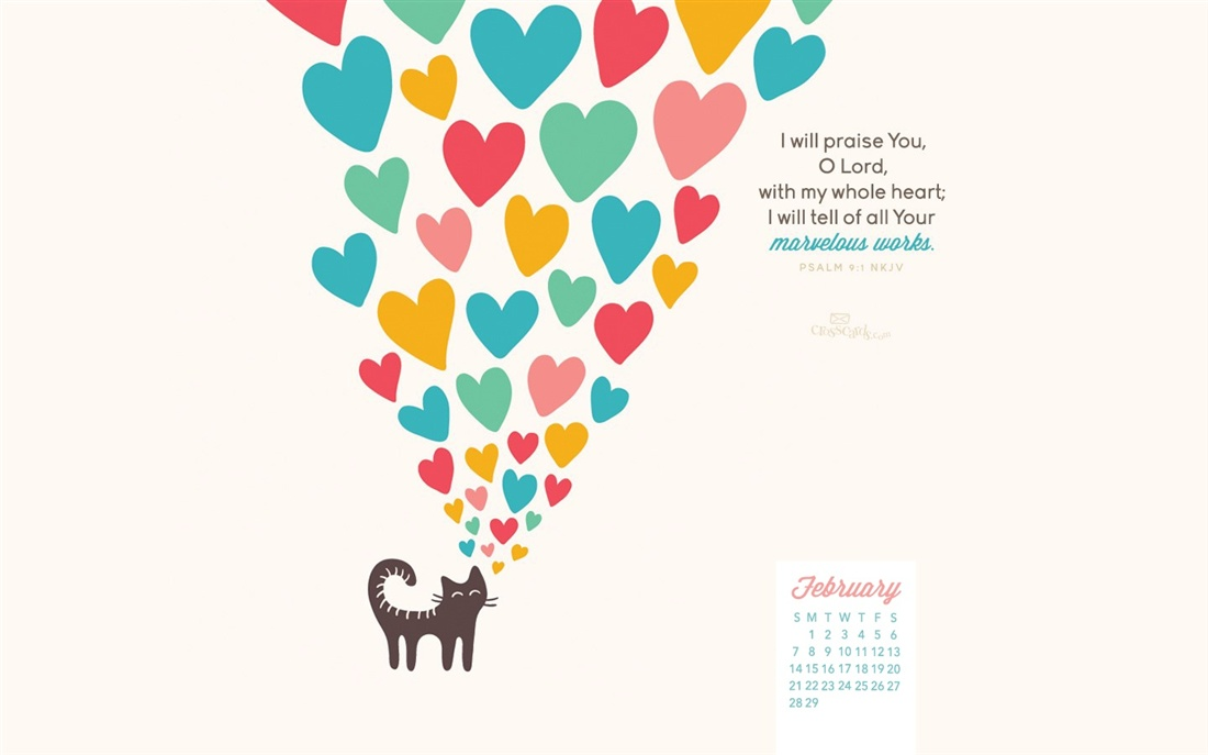 February 2016   Psalm 91   Marvelous Works Desktop Calendar 1100x687
