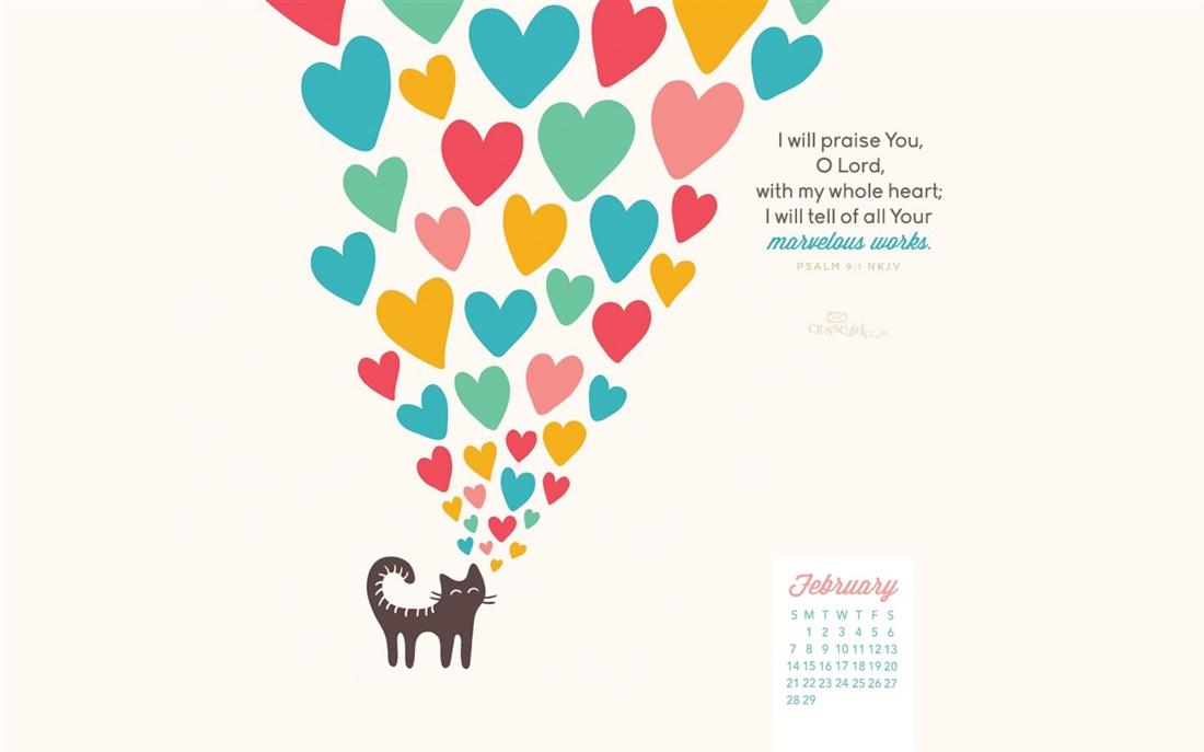 February 2016   Psalm 91   Marvelous Works Desktop Calendar 1100x687