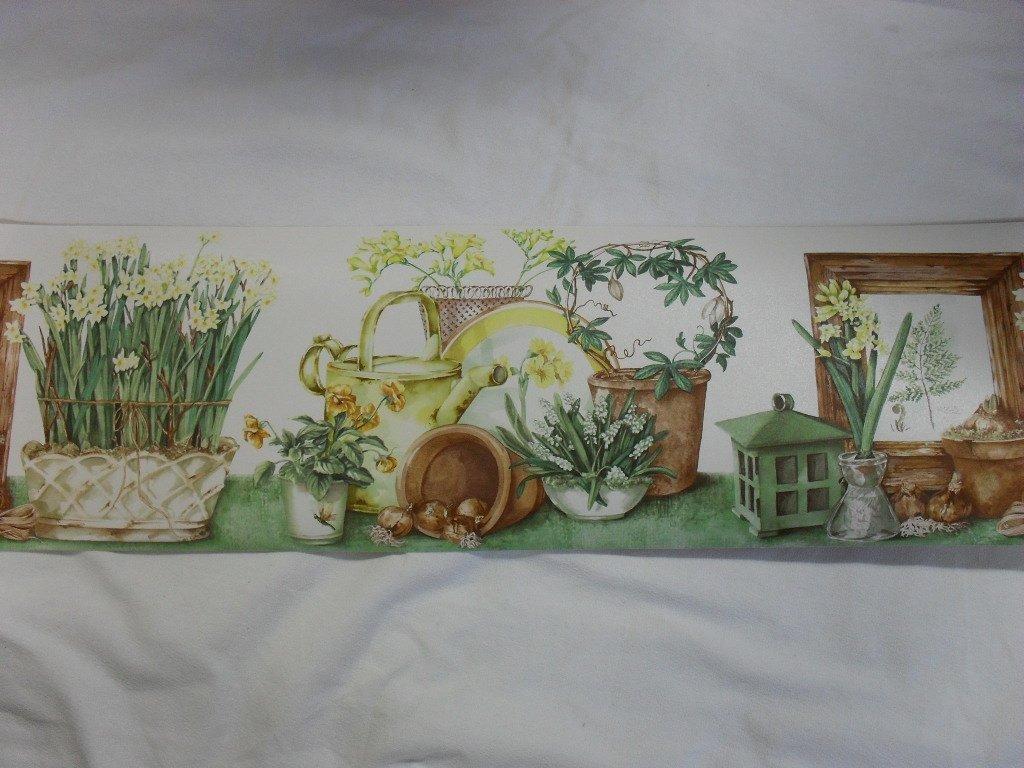 Norwall Garden Nature Wallpaper Border 1024x768