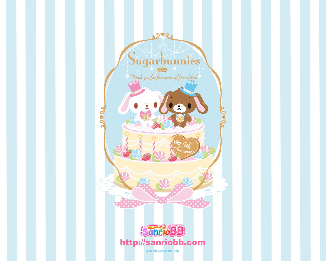 Wallpaper Sugar Bunnies Wallpaper 001 1280x1024