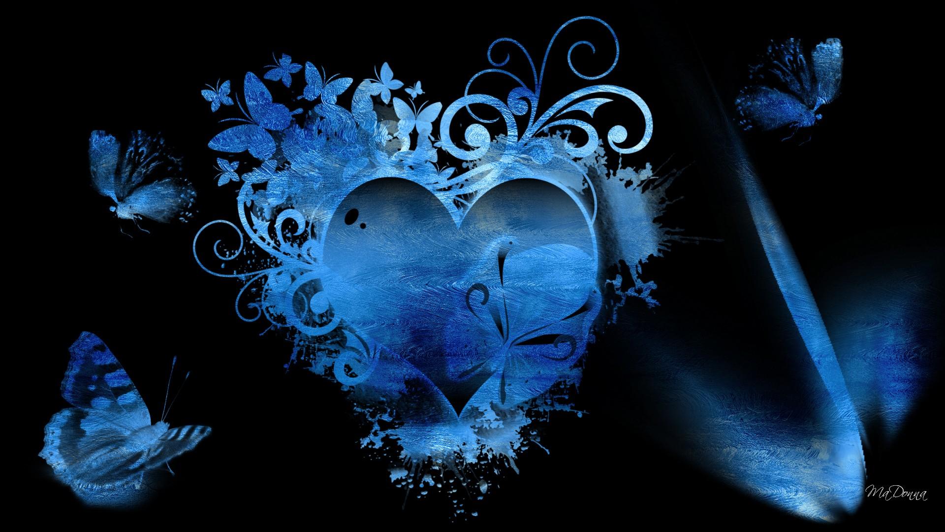 Blue Hearts Background Wallpaper - WallpaperSafari