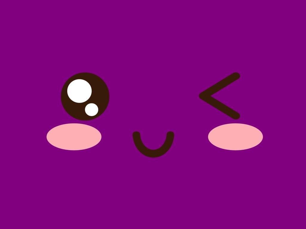 Cute Violet Kawaii Wallpaper by Dyan21 1024x768