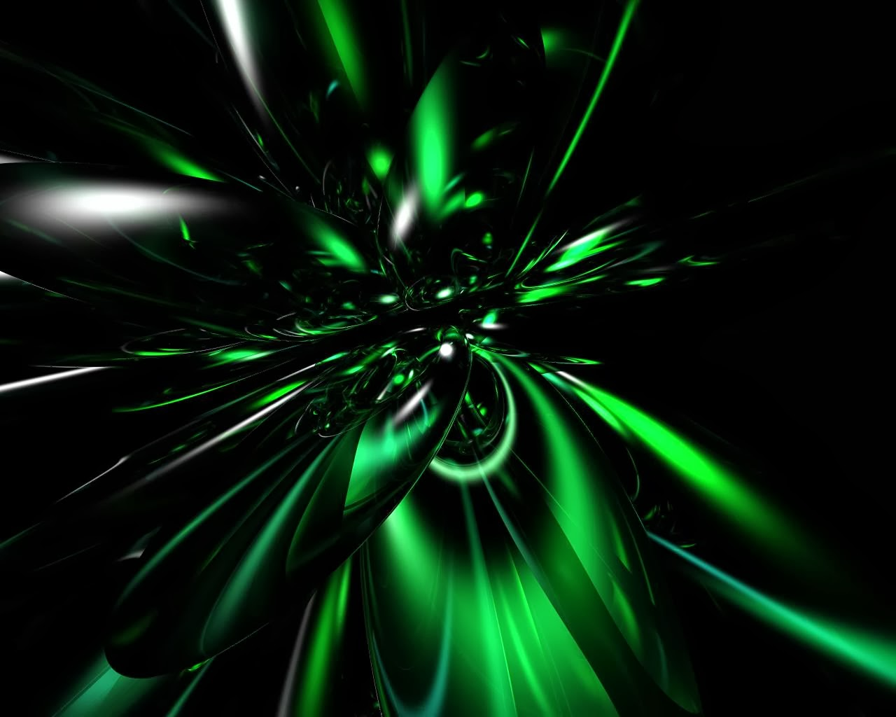 Black And Neon Green Wallpaper