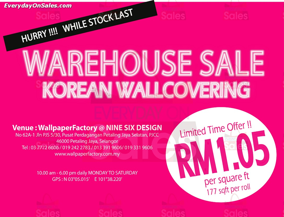 Wallpaperfactory are having theirs Korean Wallpaper Warehouse Sale 1088x831