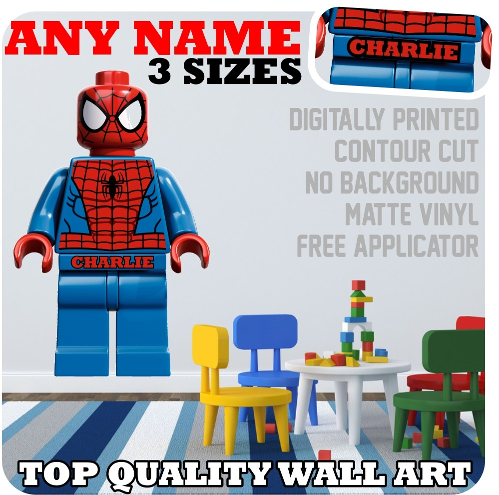Details about LEGO NAME VINYL WALL ART bedroom STICKER name baby gift 999x990