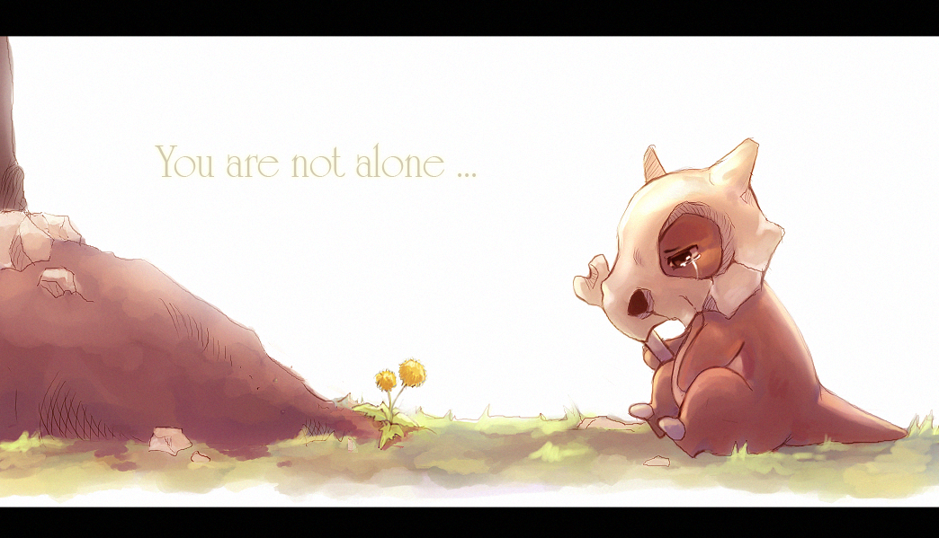 pokemon alone cubone you are not suikuro HD Wallpaper   Anime Manga 1044x599