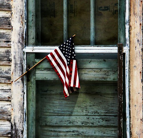 Rustic American Flag Wallpaper