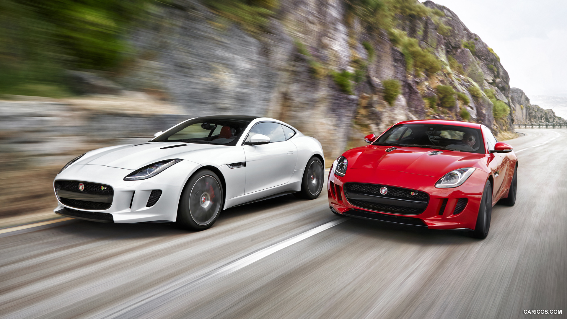 2015 Jaguar F Type Coupe and F Type R Coupe   Front Wallpaper 1920x1080