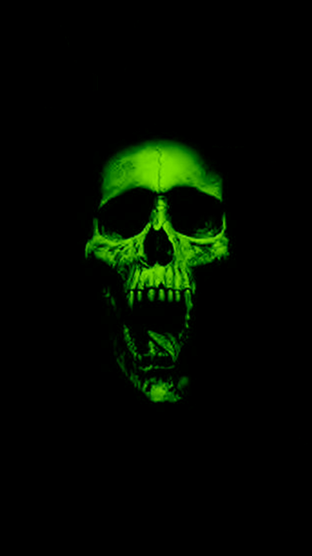 Green Skull HD Wallpaper For Your iPhone 6 1080x1920