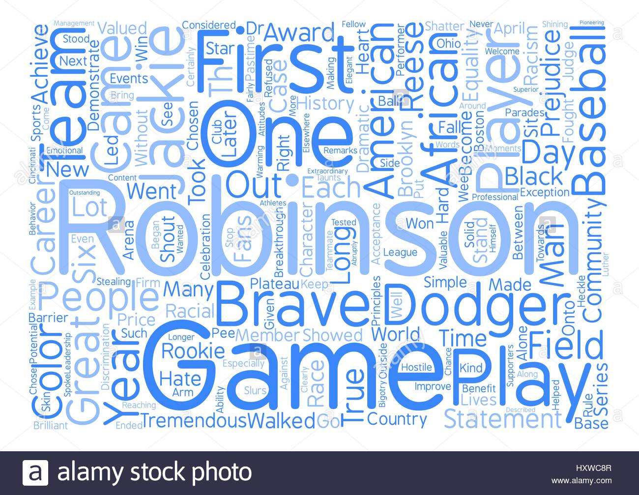 Jackie Robinson Word Cloud Concept Text Background Stock Vector 1300x1007