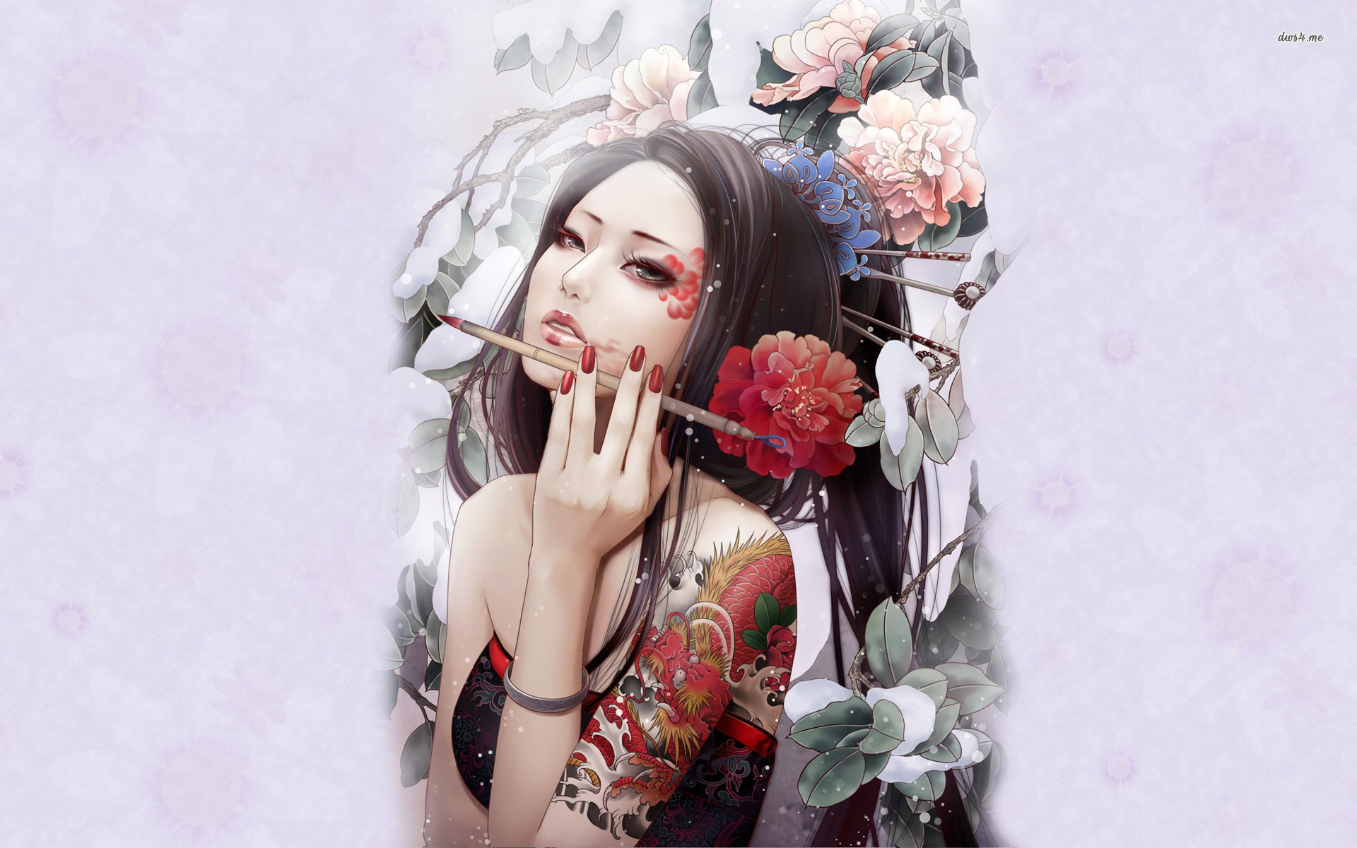Artistic geisha wallpaper   Artistic wallpapers   17669 1920x1200
