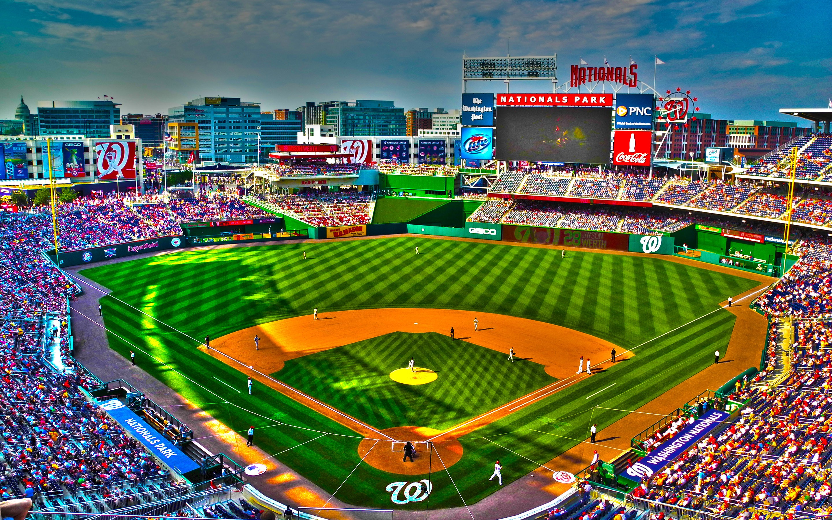 Download Baseball Stadium Wallpaper 2880x1800