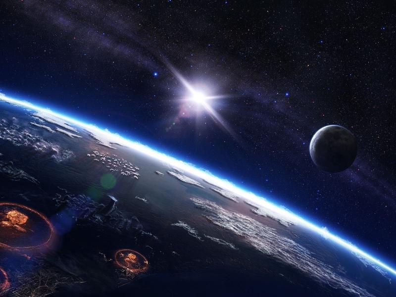cosmos planet armageddon Wallpaper
