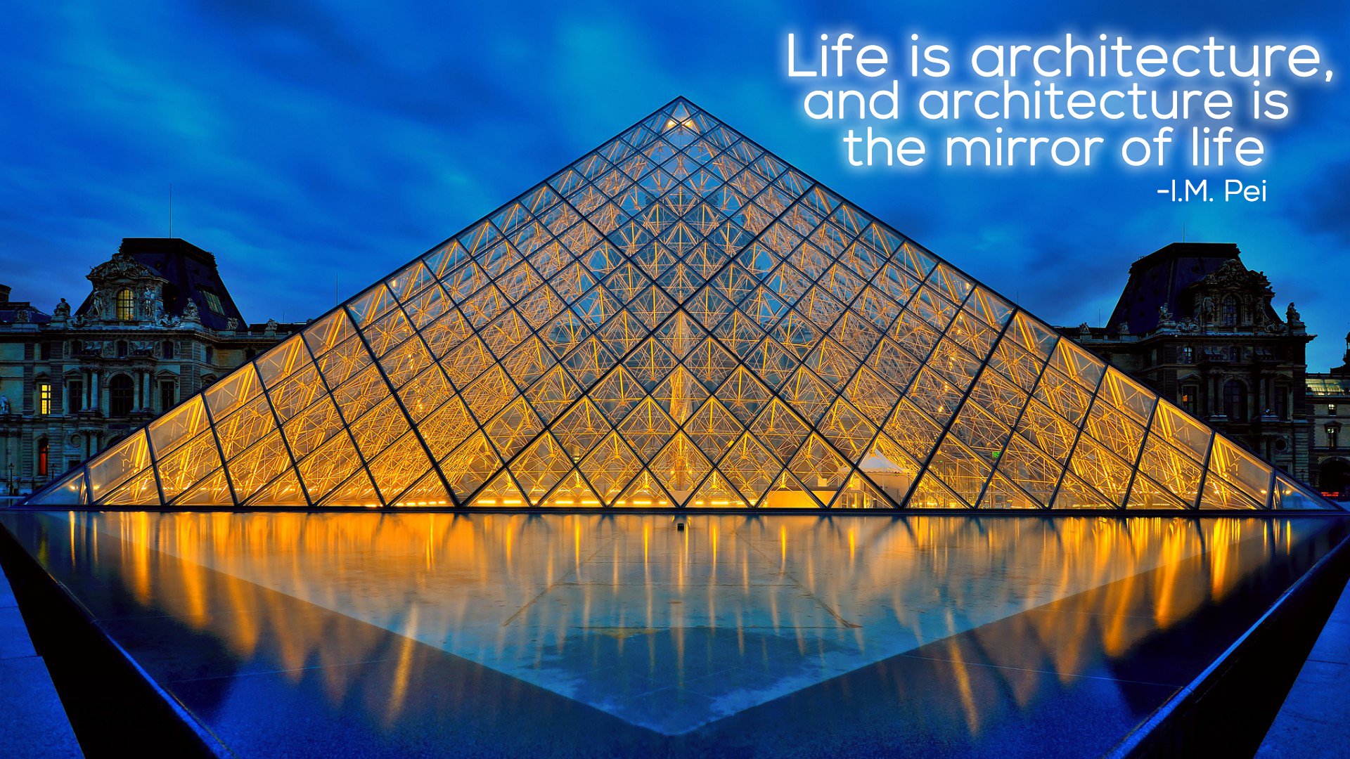 Musee de Louvre Louvre IMPei Architecture Quote Architect 1920x1080