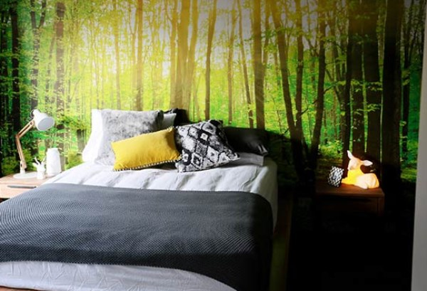 Charmant Forest Wallpaper Mural For An Instant Earthy Atmosphere 600x409