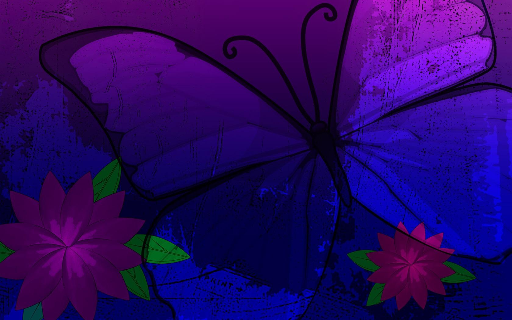Purple butterfly wallpaper - photo#50